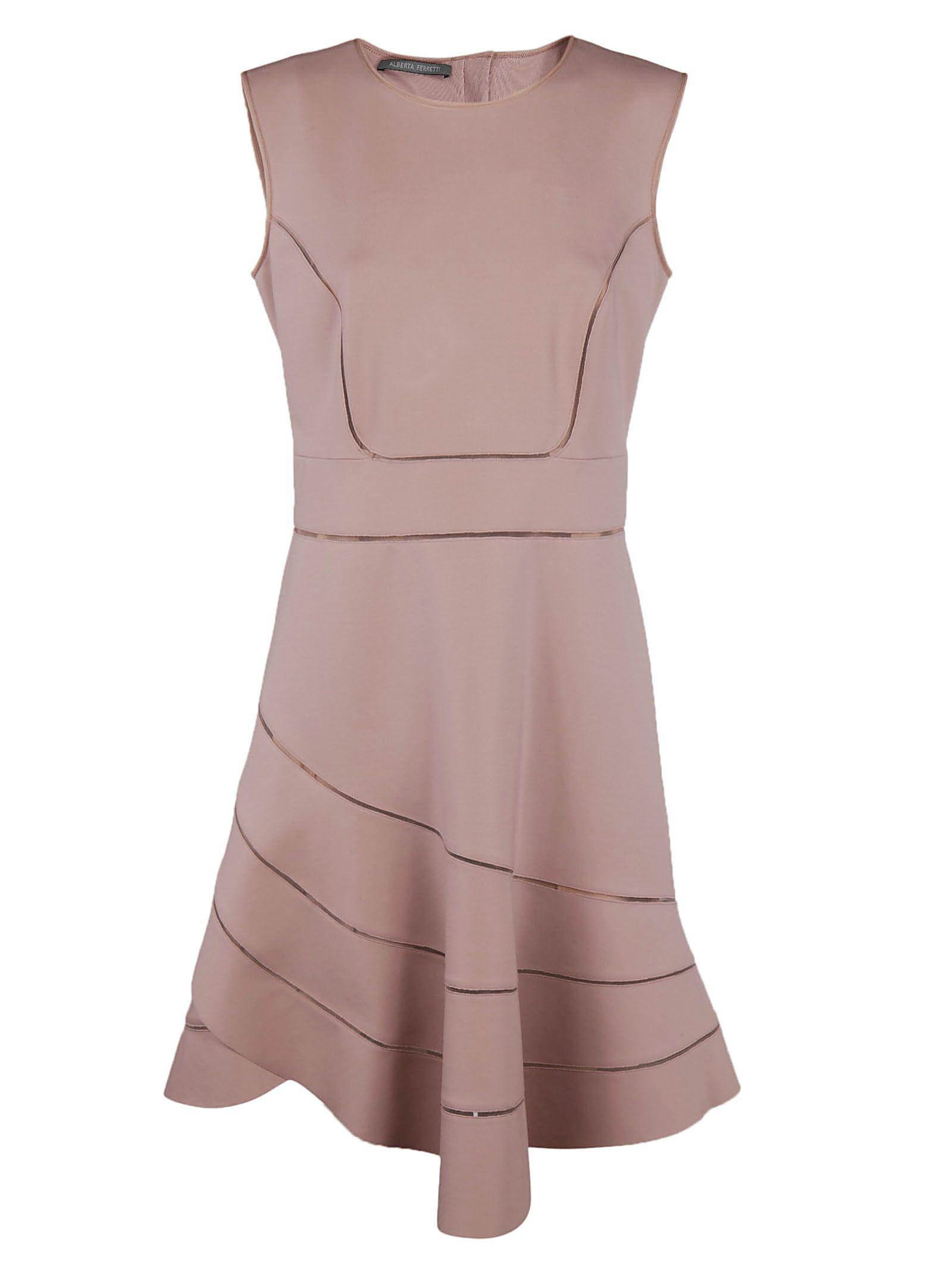 Alberta Ferretti Sleeveless Dress In Pink