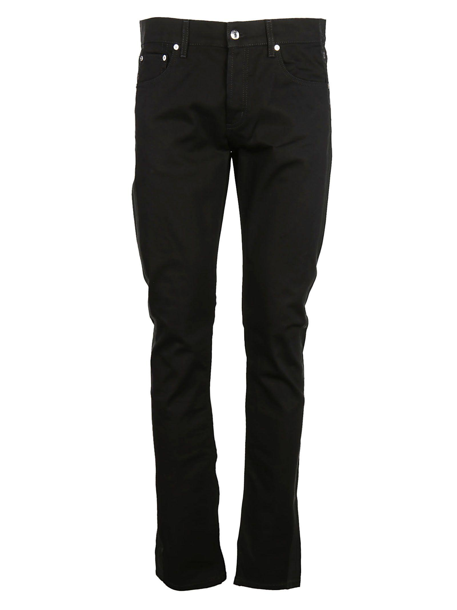 Alexander Mcqueen Classic Skinny Jeans In Black