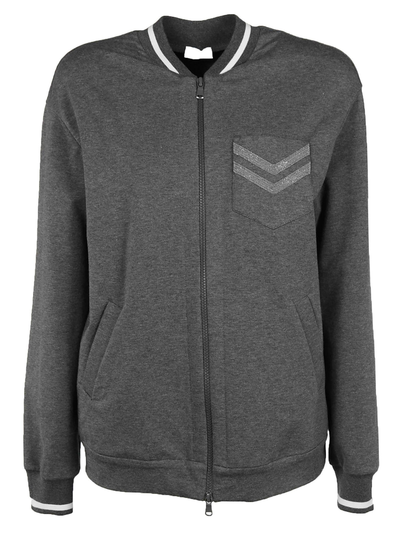 Brunello Cucinelli Zipped Jacket In Grey