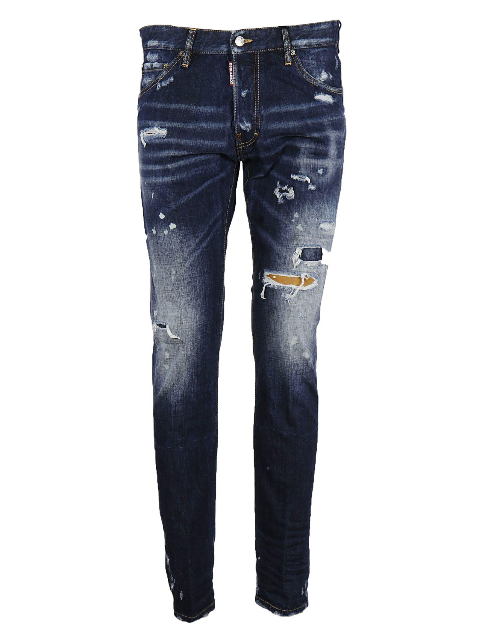 Dsquared2 Distressed Cool Guy Jeans In Blue
