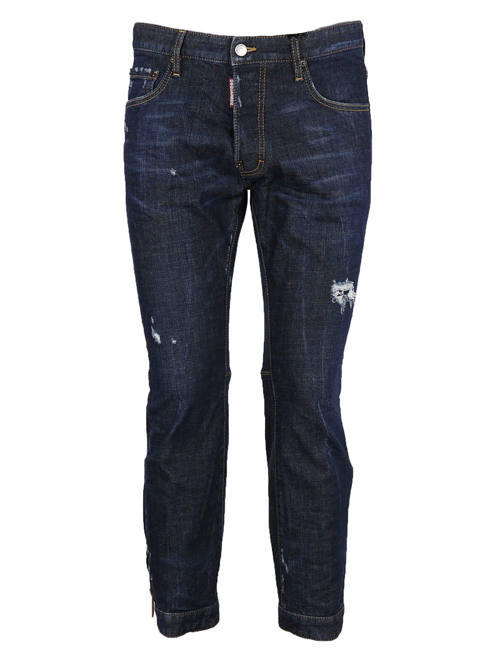 Dsquared2 Biker Sky Jeans In Blue