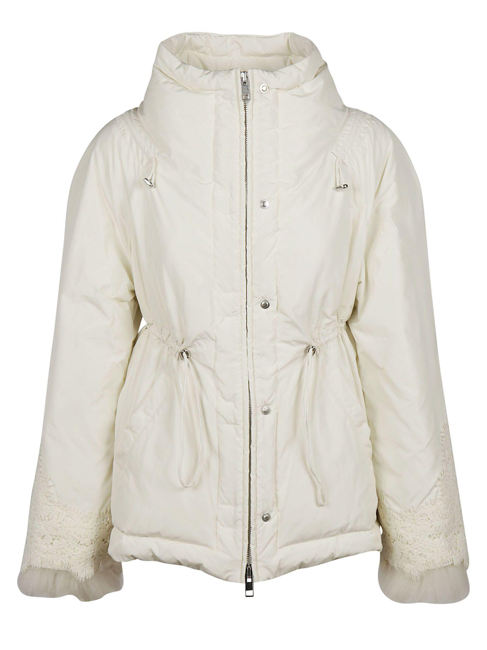 Ermanno Scervino Fur Trim Jacket In White
