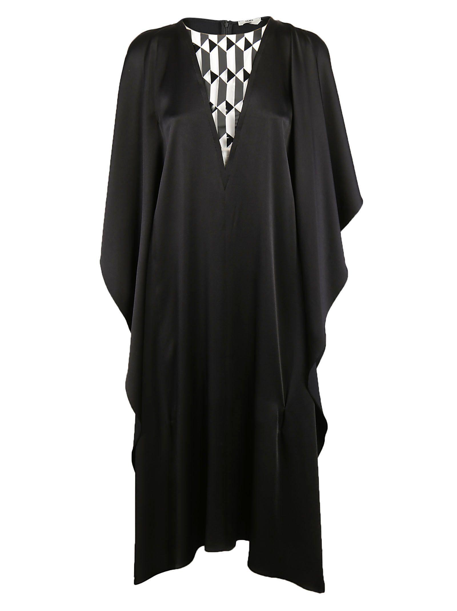 Fendi Ruffled Dress In Black