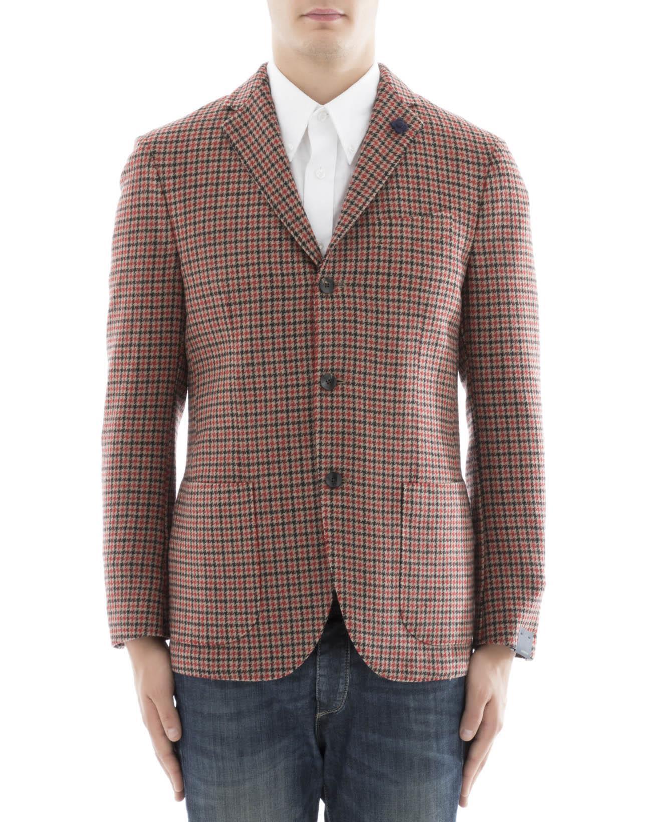 Lardini Red Alpaca Jacket
