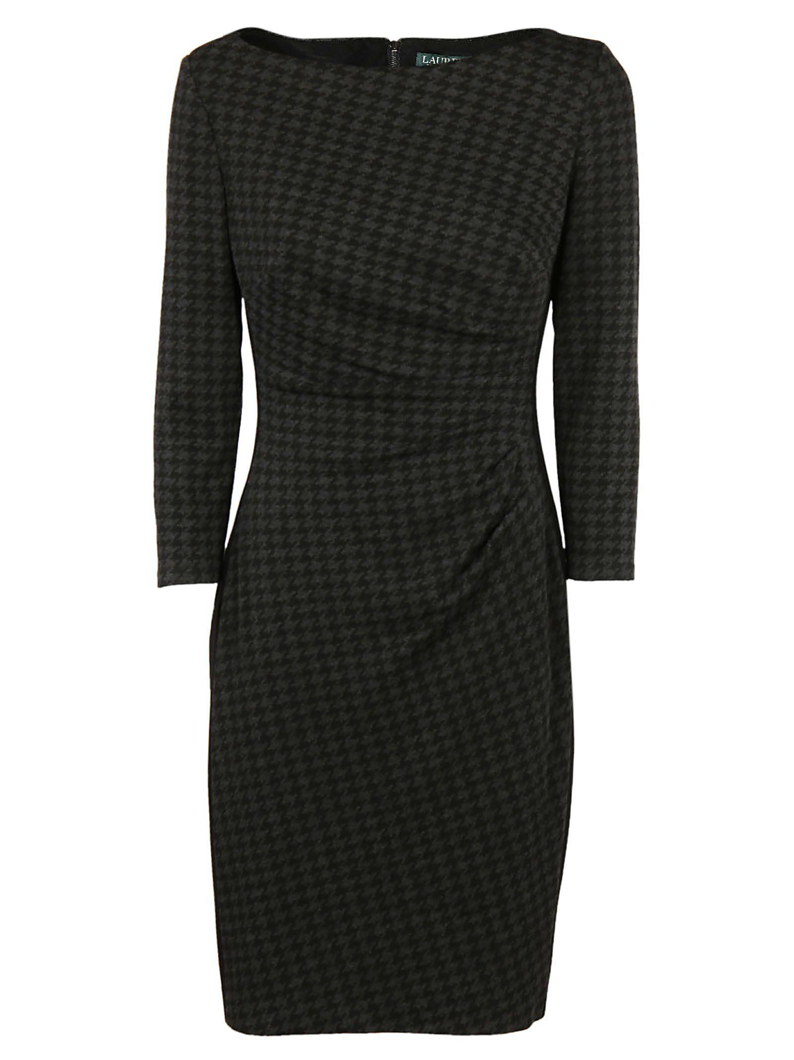 Ralph Lauren Midi Dress In Grey