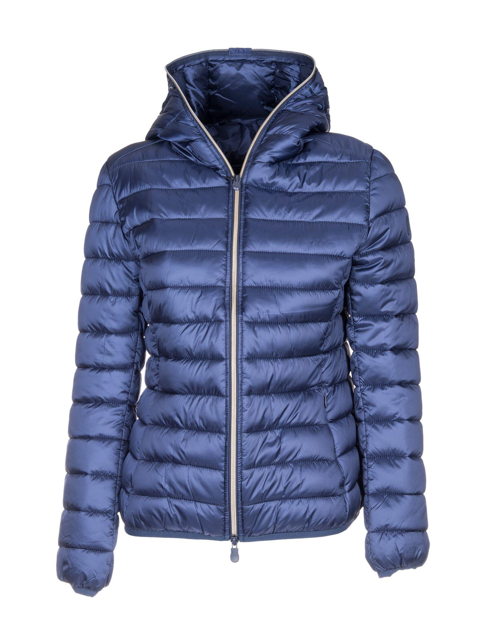 Save The Duck Zip Up Down Jacket In Blue