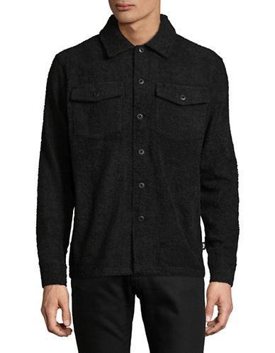 Stussy Long Terry Cotton Sportshirt-black