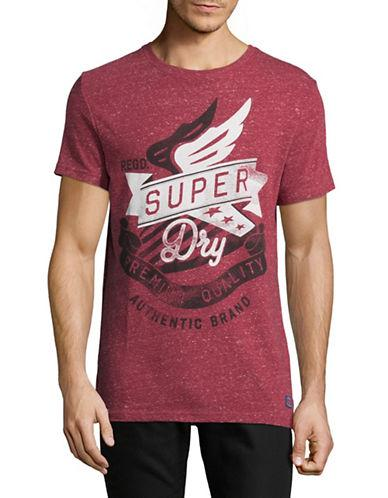 Superdry The Craftsman Heathered Tee-red