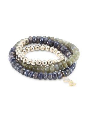 Sydney Evan Diamond & Multi Semi-precious Strone Wrap Bracelet