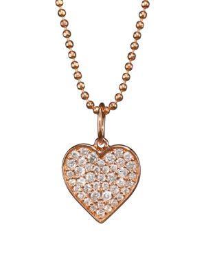 Sydney Evan 14k Rose Gold & Diamond Heart Pendant Necklace