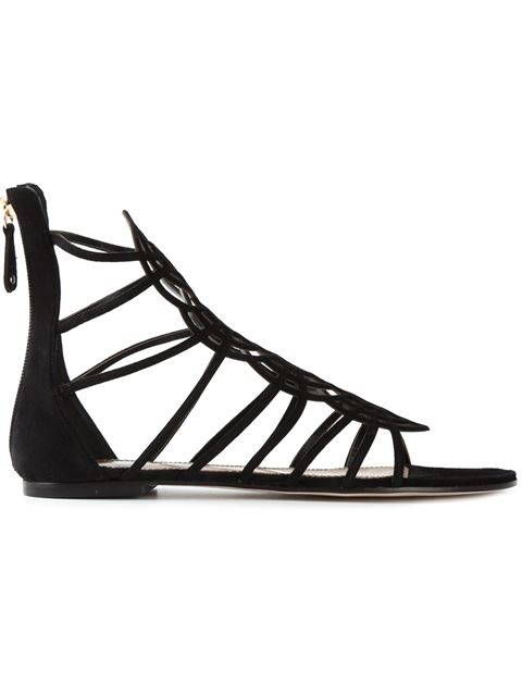 Dsquared2 Strappy Sandals In Black