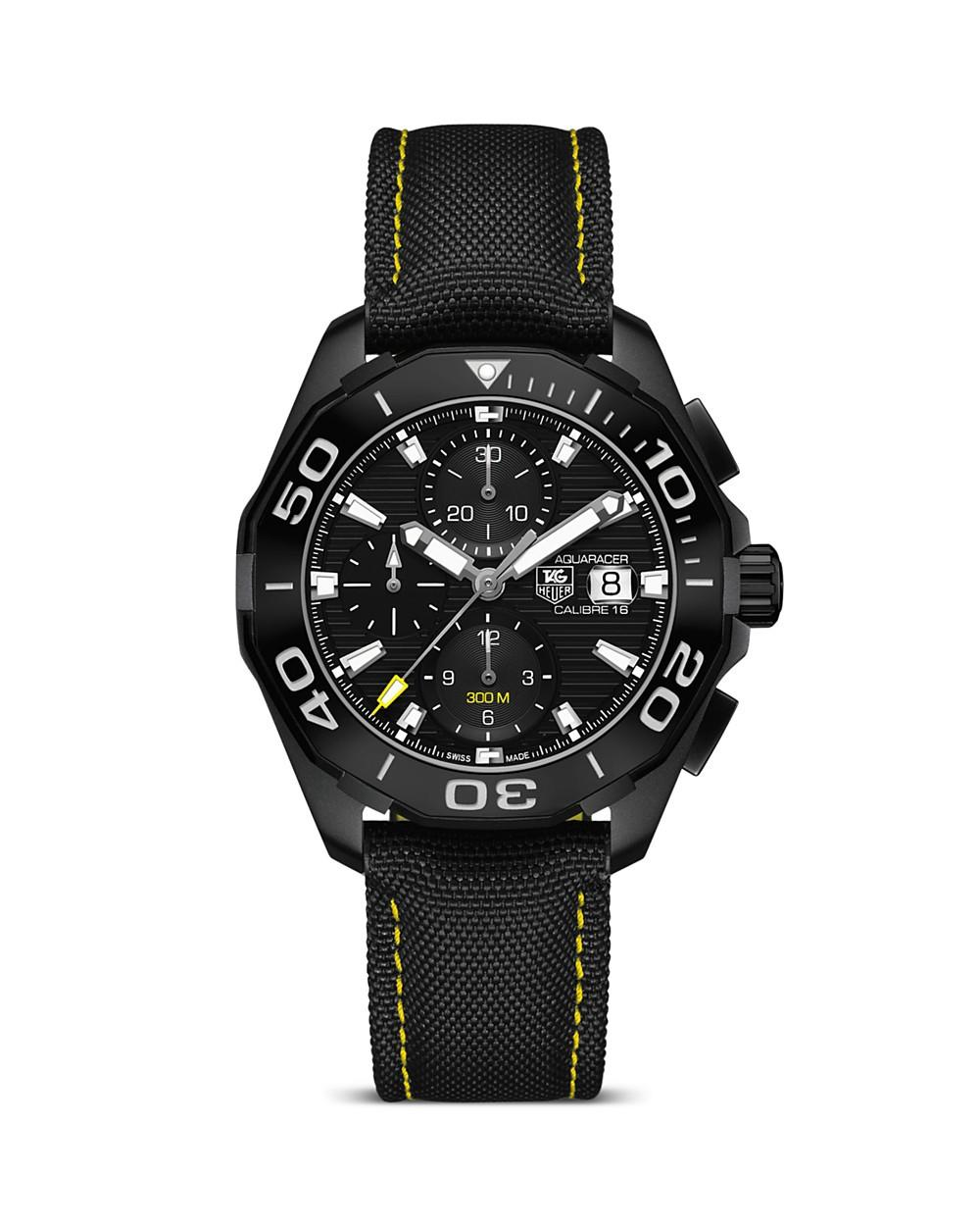 Tag Heuer Aquaracer Calibre 16 Automatic Chronograph, 43mm In Black