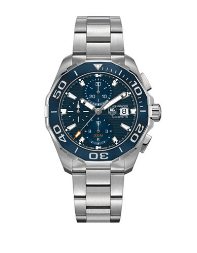 Tag Heuer Chronograph Aquaracer Stainless Steel Watch-blue