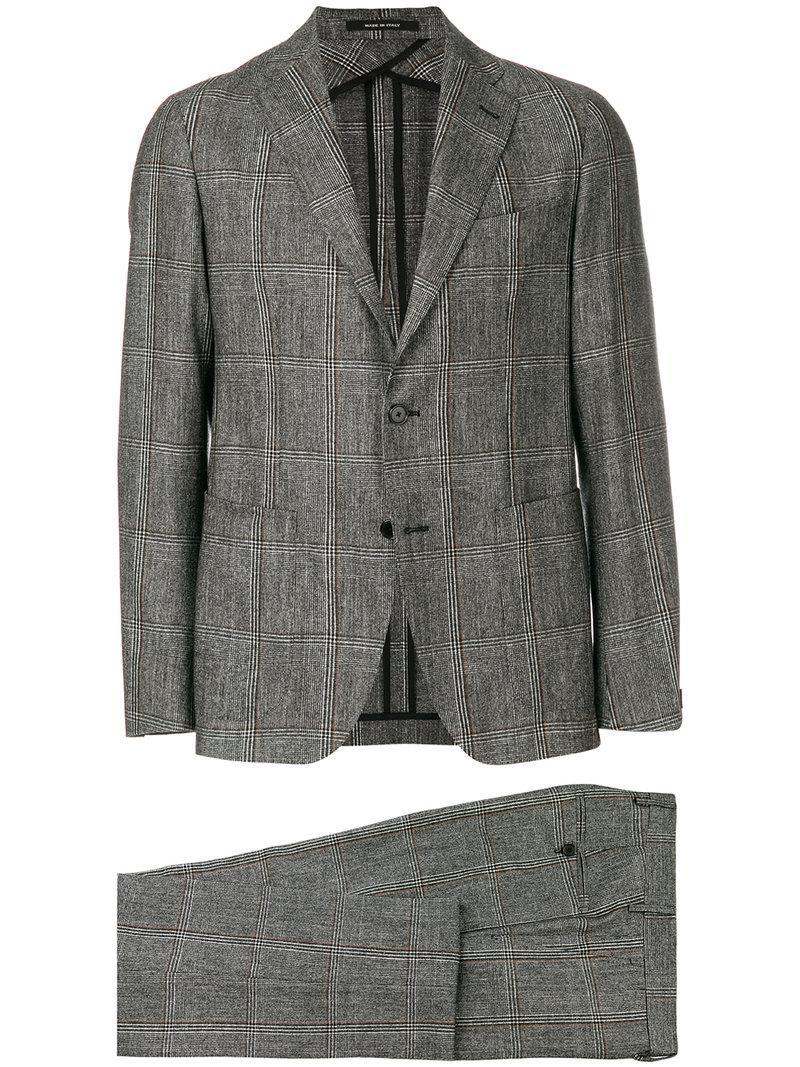 Tagliatore Checked Slim Fit Suit