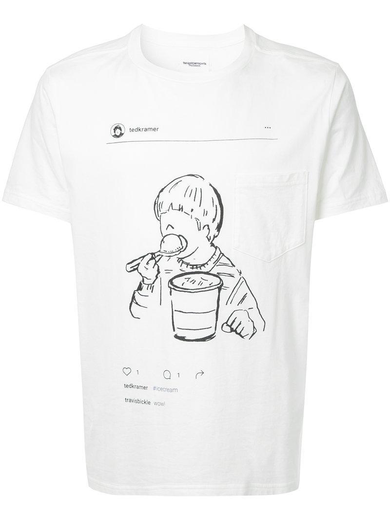 Takahiromiyashita The Soloist Graphic Print T-shirt