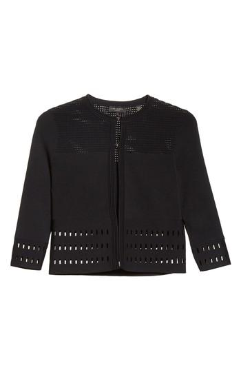 Ted Baker Rihanon Texture Knit Cardigan In Black