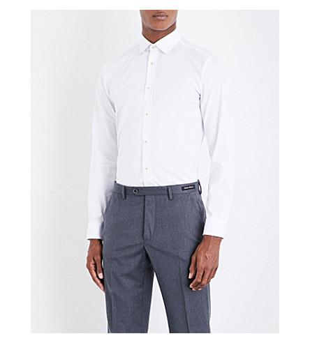 Ted Baker Chyla Modern-fit Cotton Shirt In White