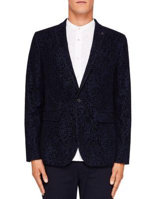 d9ba462c4603 Ted Baker Sherman Flocked Velvet Regular Fit Sport Coat In Navy ...