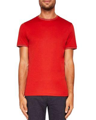 Ted Baker Solid Tee In Orange