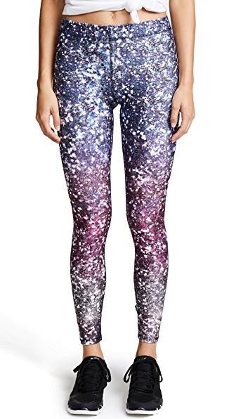 Terez Glitterally Ombre Purple Performance Leggings