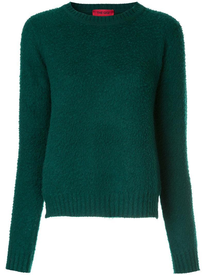 The Gigi Round-neck Sweater - Green