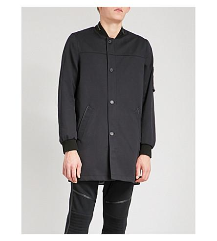 The Kooples Straight-cut Woven Trench Coat In Nav03