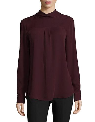 Theory Backwards Silk Blouse-red