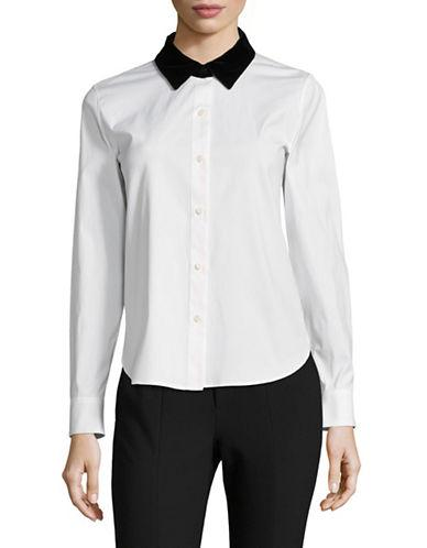 Theory Fancy Button-down Shirt-white