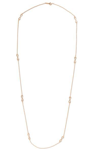 Tiffany & Co Infinity 18-karat Rose Gold Necklace
