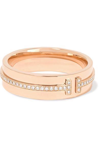 Tiffany & Co 18-karat Rose Gold Diamond Ring