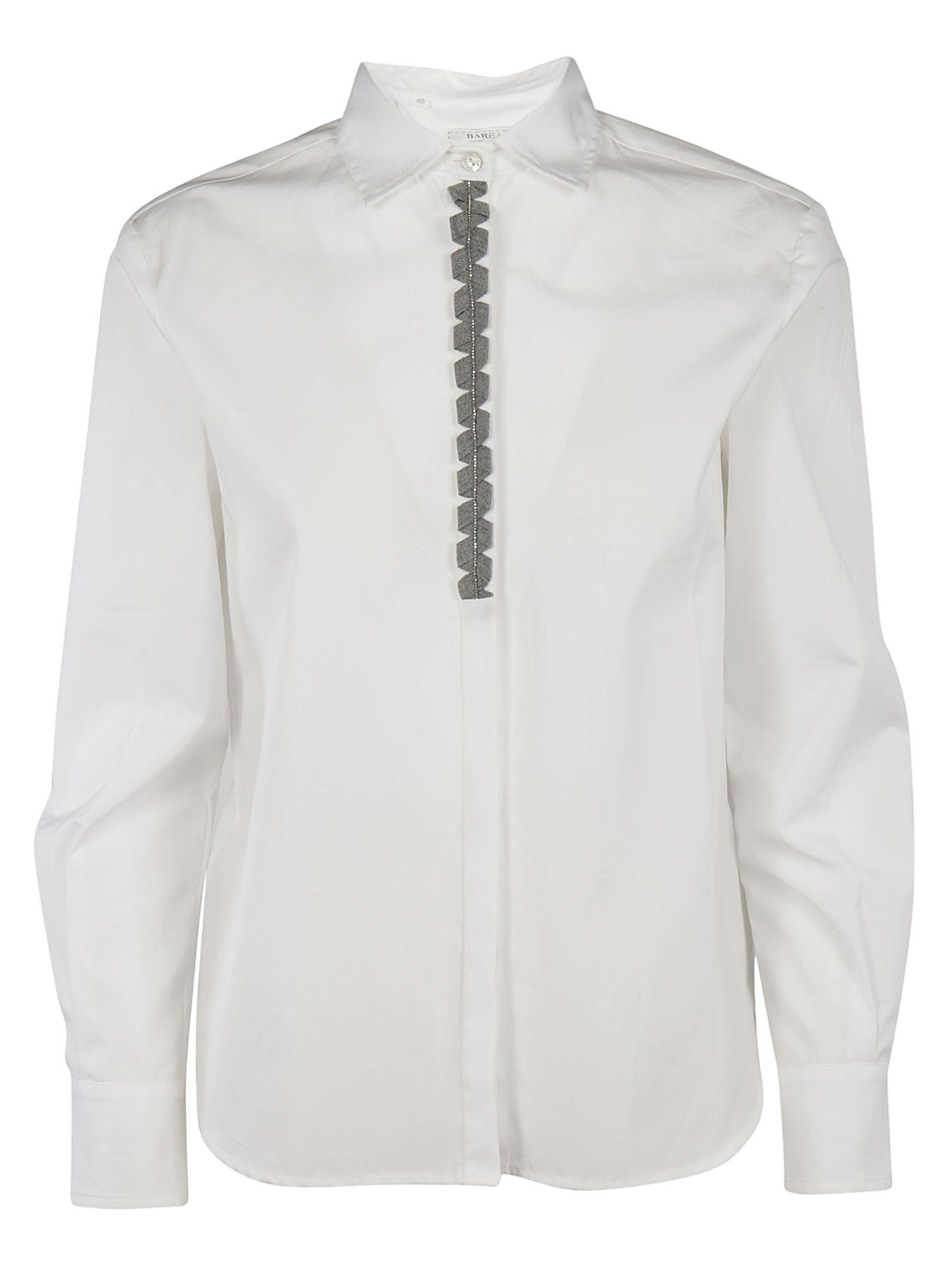 Barba Embellished Front Shirt In White