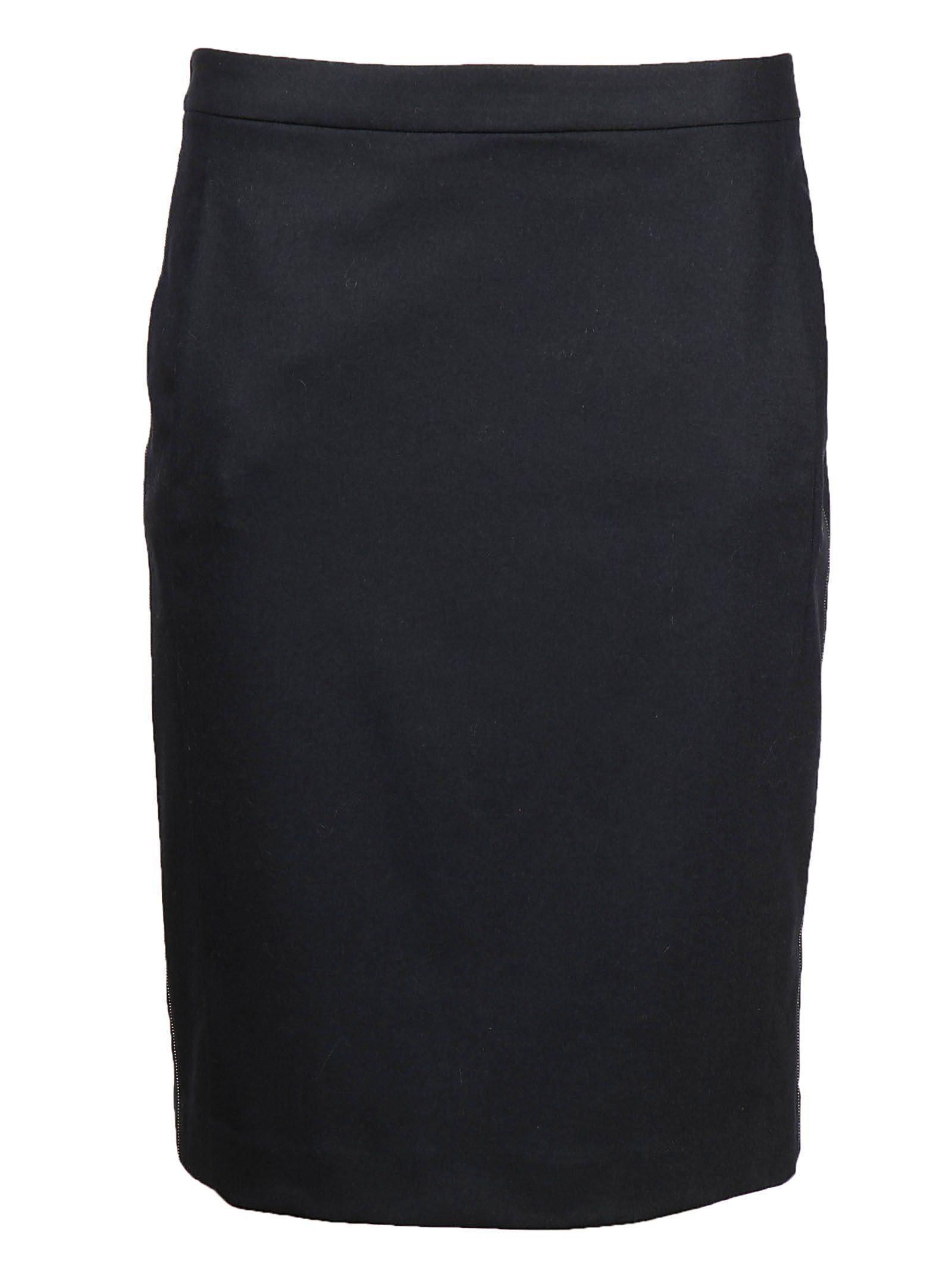 Fabiana Filippi Pencil Mini Skirt In Navy
