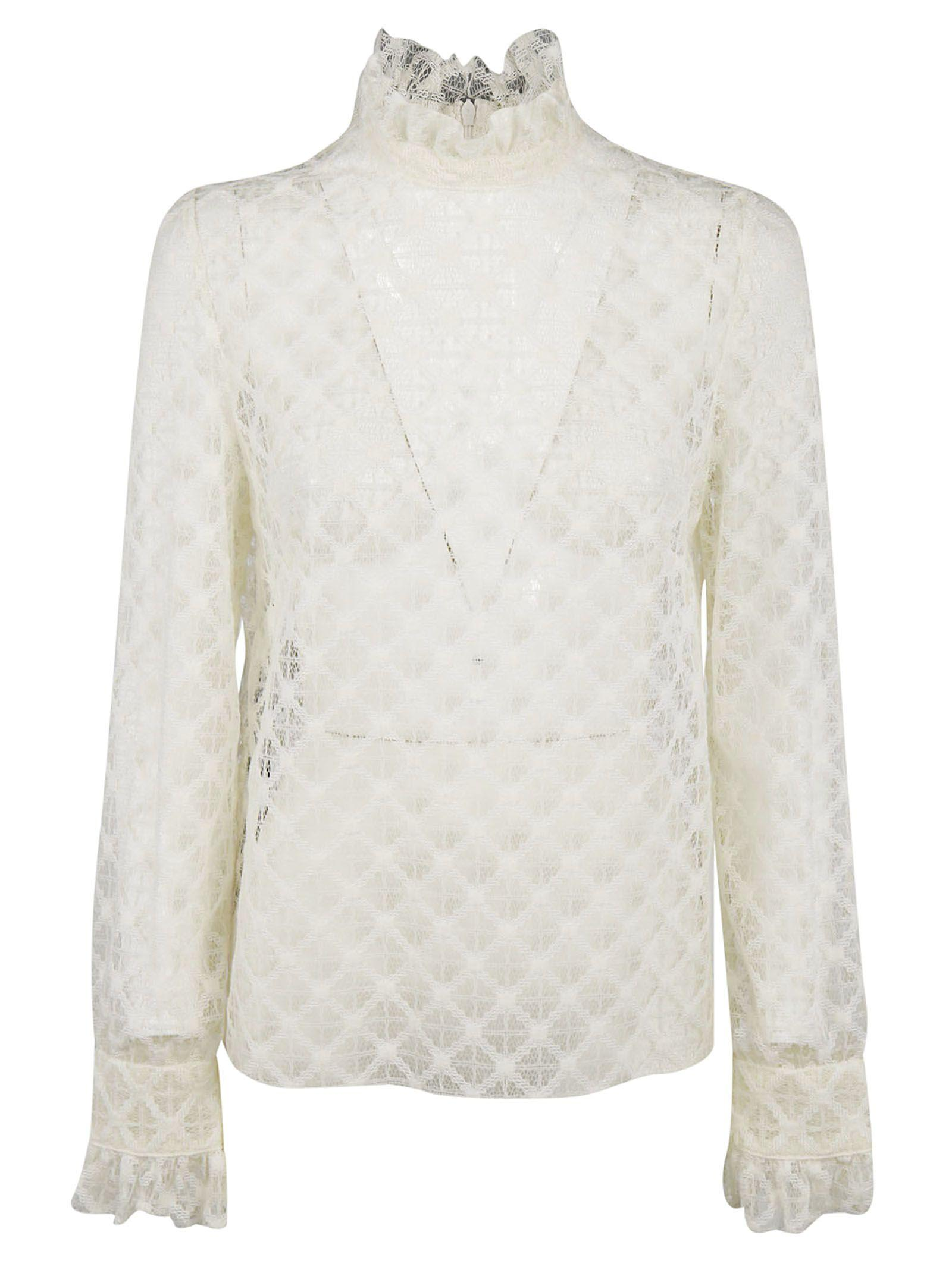 Philosophy Di Lorenzo Serafini Lace Detail Blouse In White