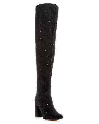 Raye Women's Isabella Embellished Over-the-knee Boots In Black/silver