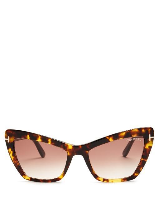 Tom Ford Valesca Cat-eye Sunglasses In Tortoiseshell