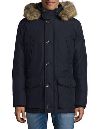 Tommy Hilfiger Faux Fur Down-fill Jacket-blue