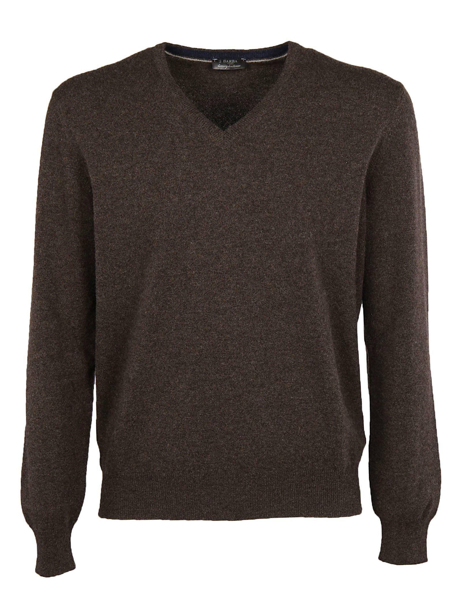 Barba Classic Sweater In Brown