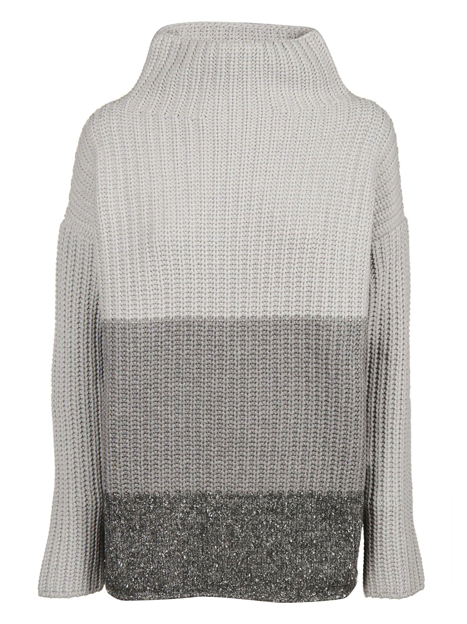 Fabiana Filippi Gradient Ribbed Sweater In Grey