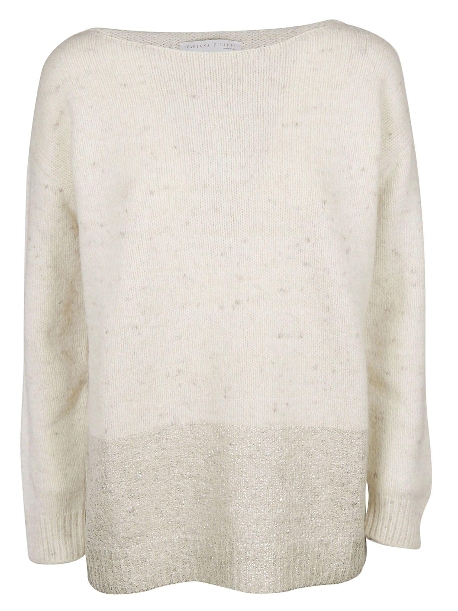 Fabiana Filippi Knitted Sweater In White