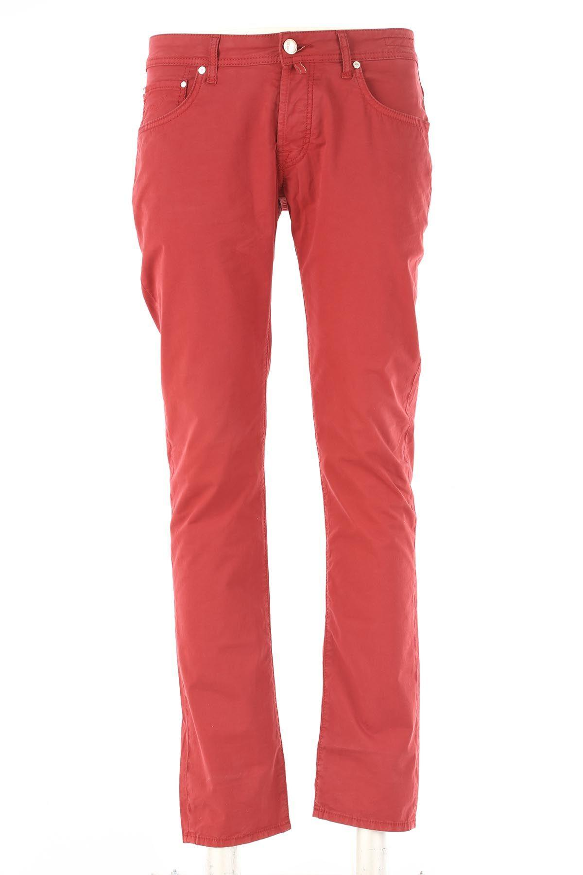 Jacob Cohen Skinny Trousers In Red