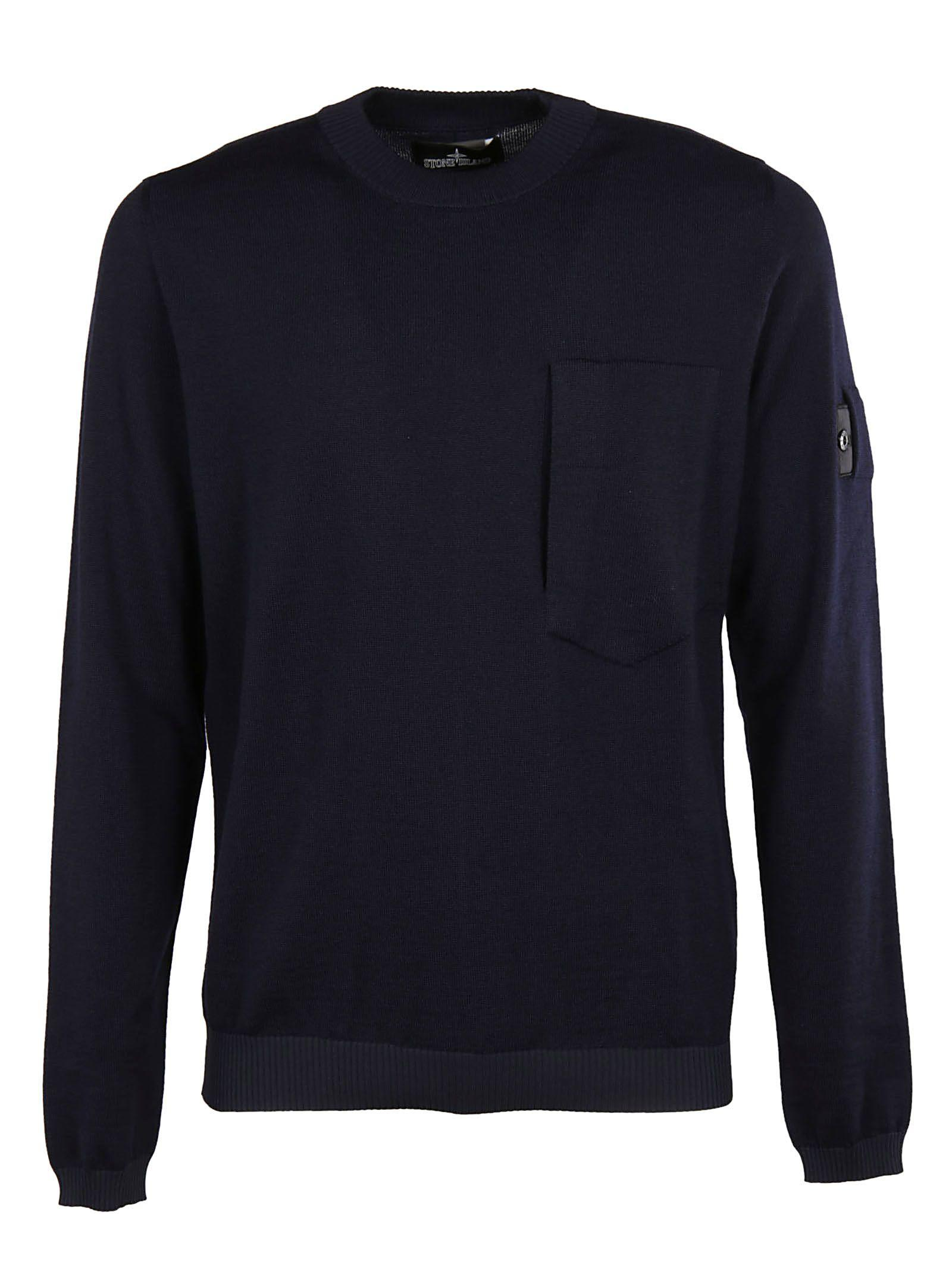 Stone Island Shadow Sleeve Detail Sweater In Blue
