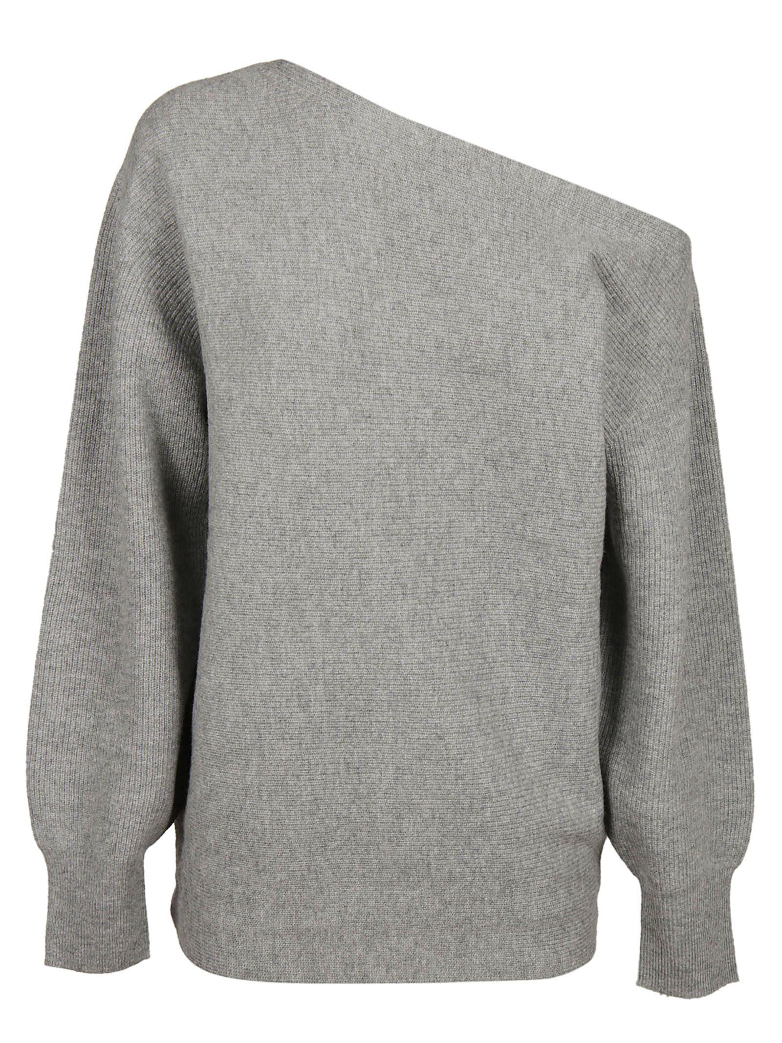 Theory Loose-fit Knit Top In Grey