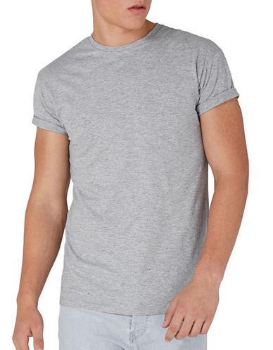 Topman Muscle Fit Roller Slub T-shirt-grey