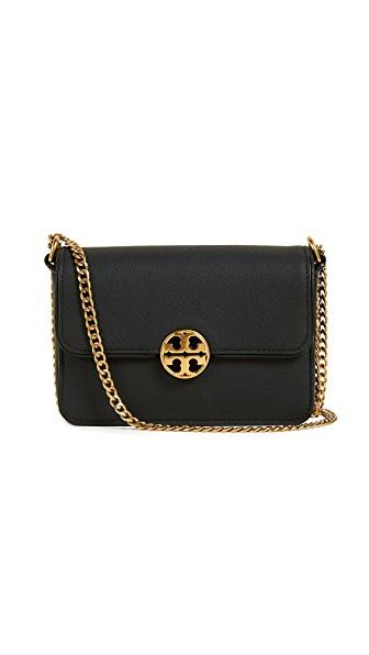 Tory Burch Chelsea Mini Cross Body Bag In Black