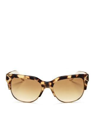 Tory Burch Women's Square Sunglasses, 55mm In Tokyo Tortoise/gold/amber Gradient