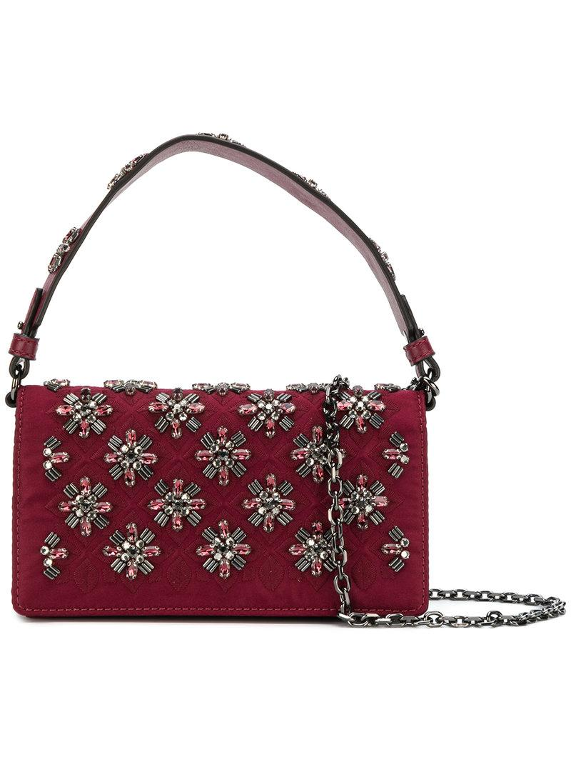 Tory Burch Cleo Embellished Fold-over Bag