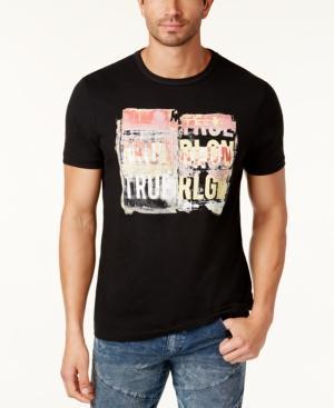 True Religion Men's Logo-print T-shirt In Black