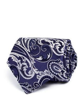 Turnbull & Asser Oversize Paisley Classic Tie In Blue