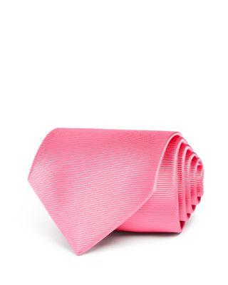 Turnbull & Asser Solid Rib Classic Tie In Pink