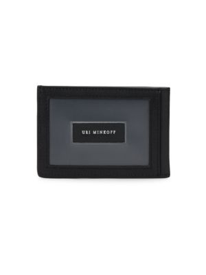 Uri Minkoff Kelso Leather Card Case In Black
